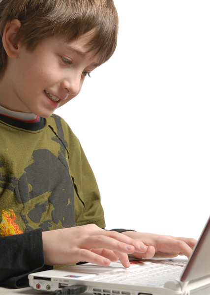boy and laptop