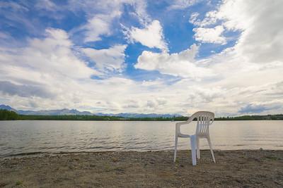 Relaxing View of Alaska Lake