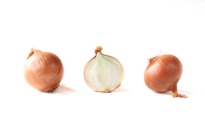 Two whole onions and a half