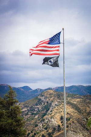 Battered American Flag