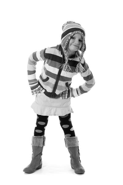 happy winter girl