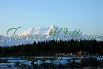 lake; water; alaska; ice; snow; mountain; treeline; landscape;