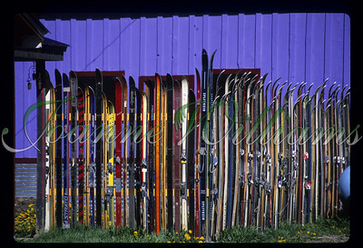 Ski Rack, USA, Vermont, Mt. Snow