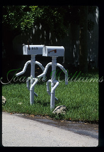 Unusual fancy mailboxes dancing USA,Florida,Pompano Beach