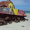 0082 old rusted military tank on flamenco beach, culebra, Puerto rico