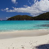 panning video of tropical beach, little hawknest, st john