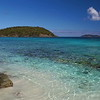 tropical beach with coral reef, little hawksnest, st john