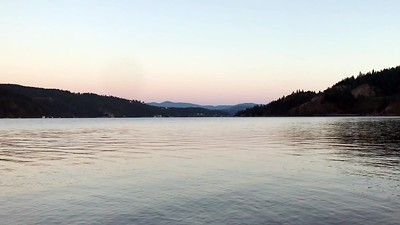 Evening Pan Over Lake Coeur D'Alene, ID