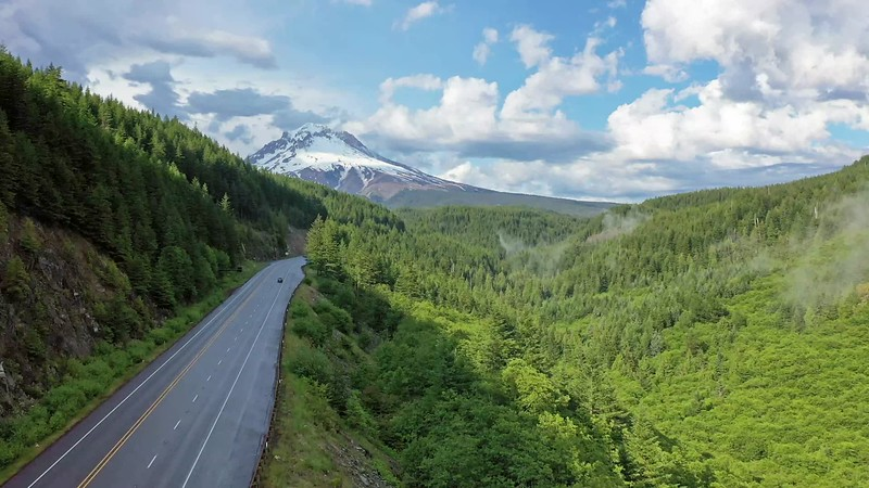 Following Highway toward Mountain