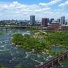 Aerial drone video Downtown Richmond Virginia 4k