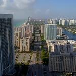 Aerial shot Hallandale Florida USA