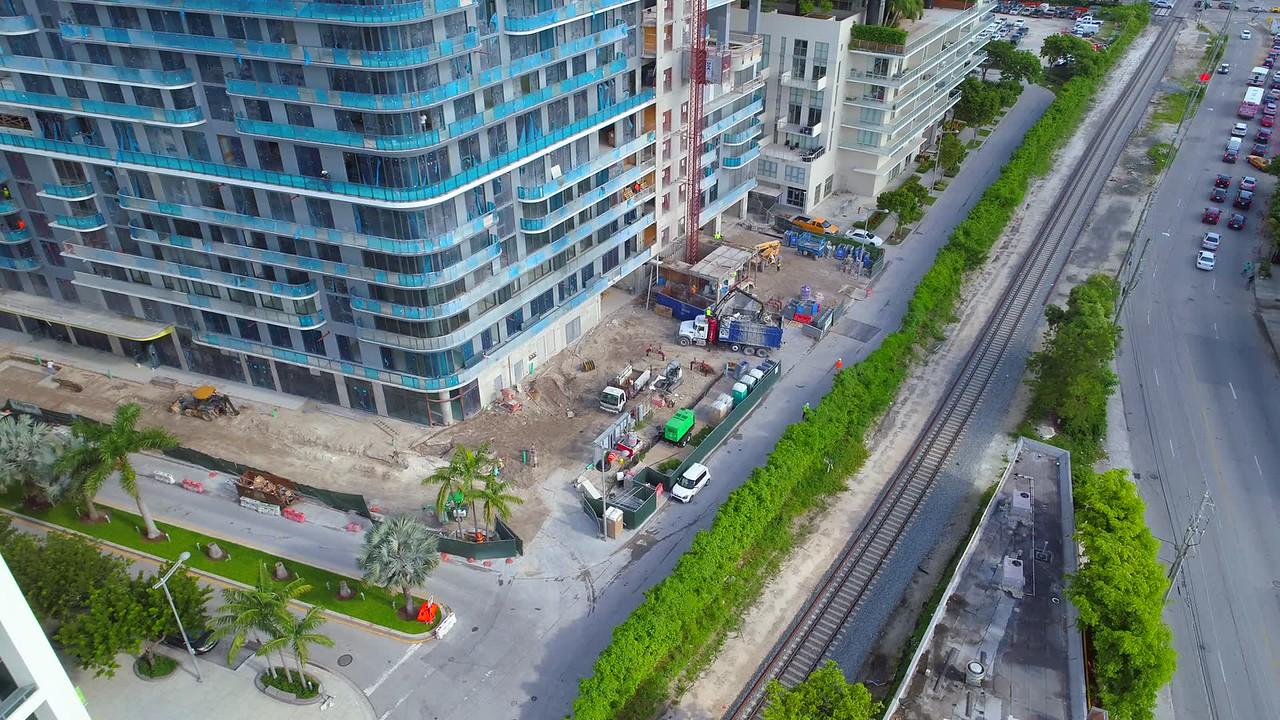 Birdseye view of construction sites Midtown Miami