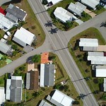 Aerial above trailer homes
