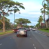 Driving on Ala Moana Boulevard past Kamakee Street