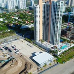 Construction on the beach in Sunny Isles