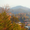 View of Gatlinburg from behind the mountains