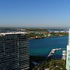 Static aerial video Miami Beach simulated view and Government Cut