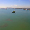 Hyperlapse aerial video Miami Biscayne Bay