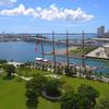 BAP Union training ship aerial video 4k Miami