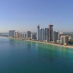Beachfront luxury real estate aerial video