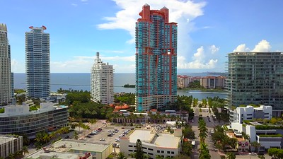 Aerial video Portofino Tower Miami Beach