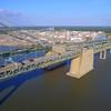 Aerial video Suspension Bridge