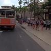 Tourist scene on Waikiki Hawaii