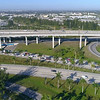 Aerial video of the Golden Glades Interchange