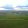 Aerial panorama video wind farms in Indiana USA