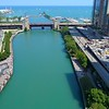 Aerial Chicago Lake Shore Drive Navy Pier