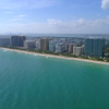 Aerial panorama Bal Harbour and Haulover