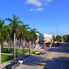 Aerial Miami Beach convention center construction