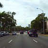 Driving on Abbott avenue Miami Beach