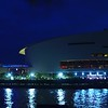Motion footage of the American Airlines Arena Miami at night