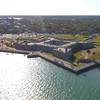 Aerial footage Castillo De San Marcos St Augustine FL