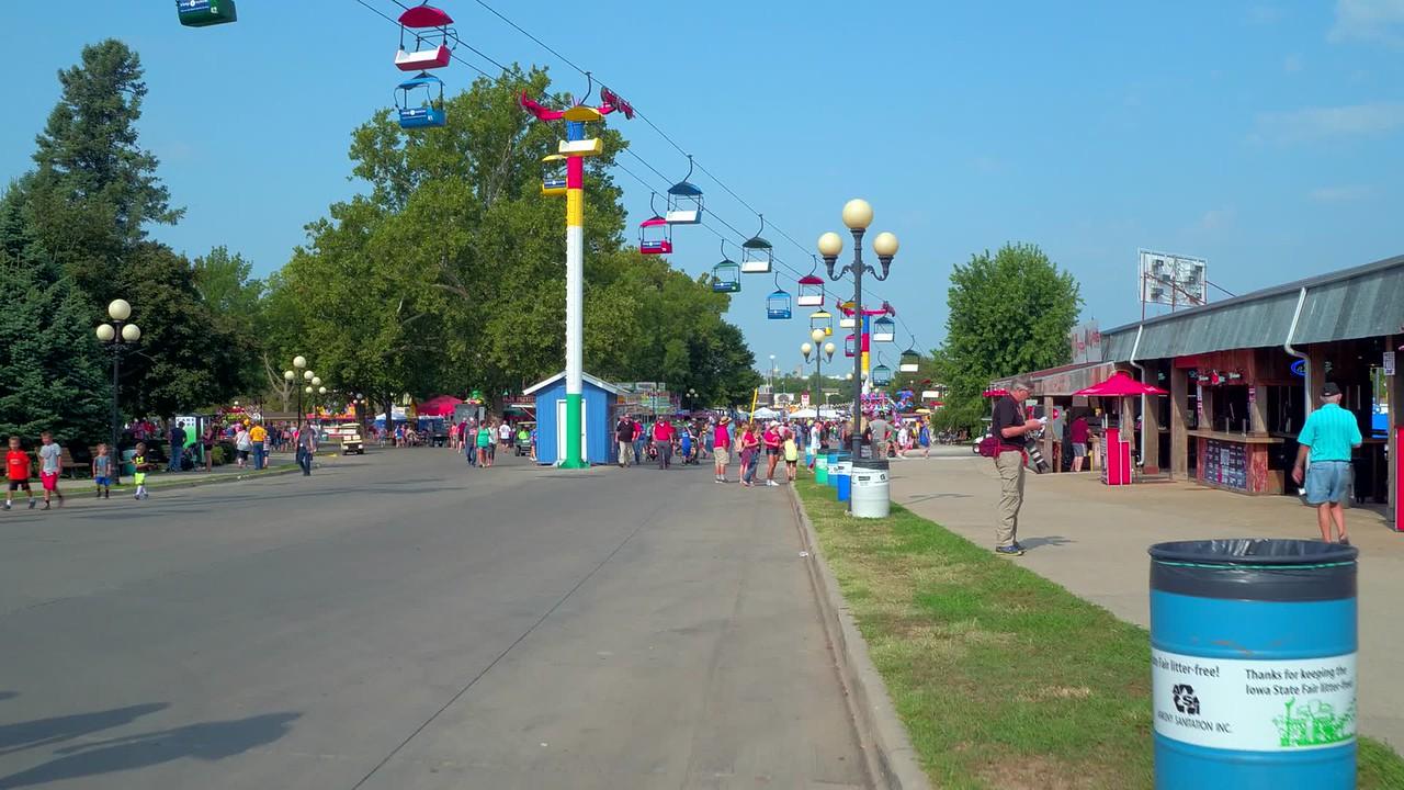 Walking at the Iowa State Fair