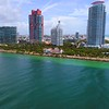 Aerial drone video Miami Beach South Pointe Park