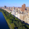 Aerial video of Central Park NY and luxury condominiums