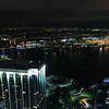 Hyperlapse aerial drone video Downtown miami at night 4k 24p