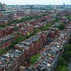 Aerial drone video residential real estate Boston Back Bay 4k