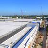 Aerial Miami Beach convention center construction 2016