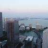 Aerial drone video of Brickell Miami FL