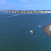 Aerial video Vilano Beach St Augustine 4k 60p