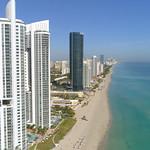 Aerial video Sunny Isles Beach Florida 4k 60p