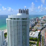 Cinematic aerial drone video Fontainbleau Hotel Miami Beach 4k 24p