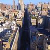 Aerial video flying between Manhattan 4k