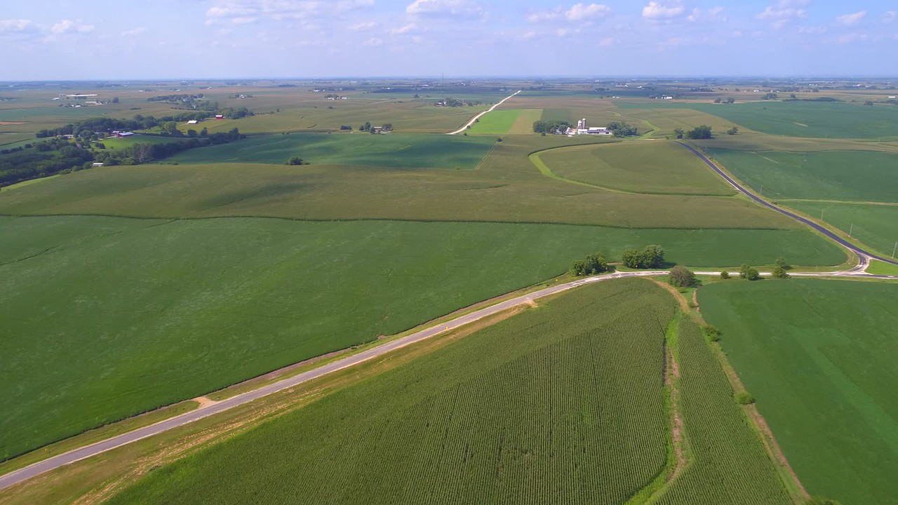 Aerial video agriculture farmland 4k