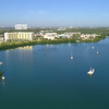 Aerial video of Biscayne Bay Miami FL