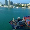 Aerial video of the E.R. Los Angeles at Port Miami 4k 60p
