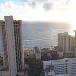 Aerial reveal Waikiki Beach Hawaii 4k 30p